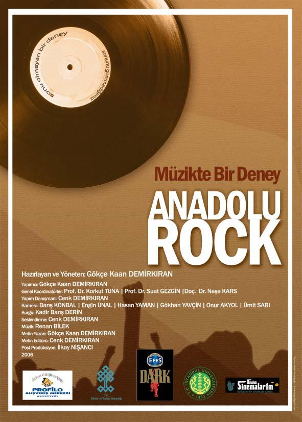 müzikte bir deney anadolu rock afiş